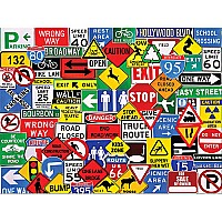 Road Signs (550 pc) White Mountain
