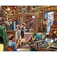 Cozy Book Shop - 300 Piece Puzzle EZ Grip - White Mountain Puzzles