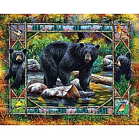Black Bear & Cubs-White Mountain Puzzles