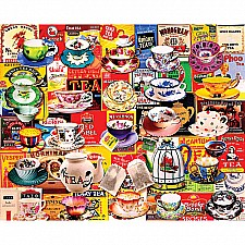 Tea Please-550 Piece Puzzle-White Mountain Puzzles