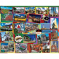 Boston Collage-1000 Piece Puzzle-White Mountain Puzzles