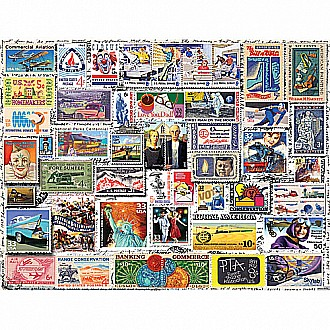 Classic Stamps -550 Piece Puzzle-White Mountain Puzzles