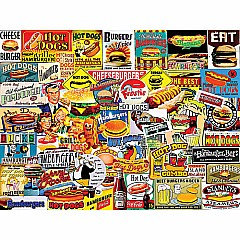 Burger & Dogs -1000 Piece Jigsaw Puzzle -White Mountain Puzzles