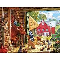 Barnyard Buddies-550 Piece Puzzle-White Mountain Puzzles