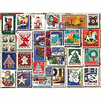 Christmas Stamps -1000 Piece Puzzle-White Mountain Puzzles
