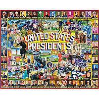 US Presidents Collage-1000 Piece Puzzle-White Mountain Puzzles