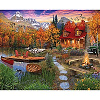 Cozy Cabin-1000 Piece Puzzle-White Mountain Puzzles