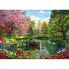 Forest Lake-1000 Piece Puzzle-White Mountain Puzzles
