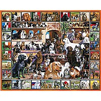 WHITE MOUNTAIN PUZZLES World of Dogs 1000PC