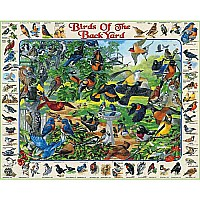 White Mountain Puzzles Birds of the Back Yard Puzzle