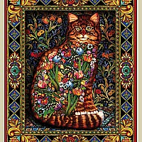 Tapestry Cat (1000 pc) White Mountain