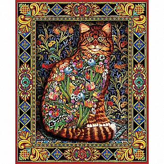 Tapestry Cat Jigsaw Puzzle - White Mountain Puzzles  1000 piece