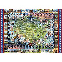 United States Presidents Puzzle-White Mountain Puzzles