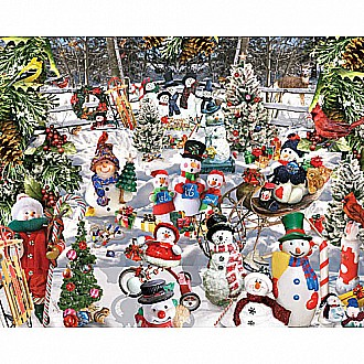 Snowman Puzzle- 1000 Pieces-White Mountain Puzzles