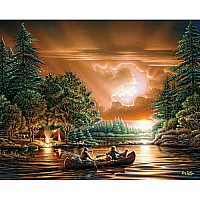 Nature Jigsaw Puzzles-Evening Rendezvous-White Mountain Puzzles
