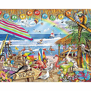 Happy Hour 1000 Piece Jigsaw Puzzle - White Mountain Puzzles