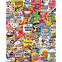 Cereal Boxes Collage Puzzle-White Mountain Puzzles