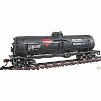 HO Scale - 40' Tank Car - Ready to Run - Conoco (black, red, white)