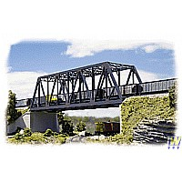 "N Scale - Double-Track Truss Bridge - Kit - 10 x 2-3/4 x 2-3/4"" 25 x 6.8 x 6.8cm"