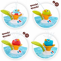 Bath Toy - Musical Duck Race with Auto Fountain, Water Pump, and 4 Racing Ducks