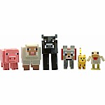 "Minecraft 3"" Core Animal 6-pack (chicken, Ocelot, Tame Wolf, Pig, Sheep, Cow)"